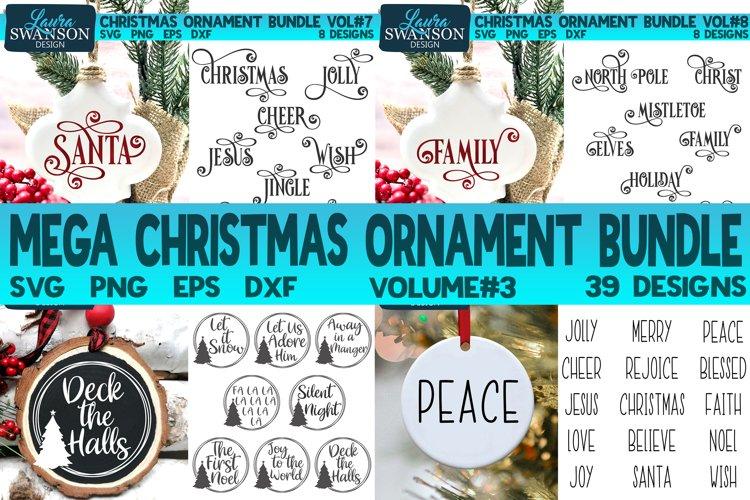 Mega Christmas Ornament Bundle Vol#3 | Christmas SVG Bundle example image 1