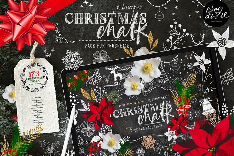 a Bumper Christmas Chalk Brush Pack