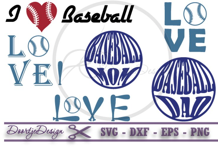 Love Baseball SVG example image 1