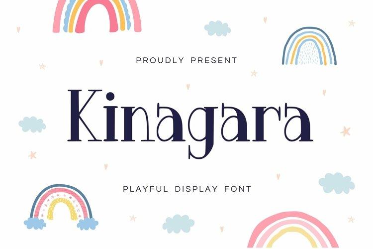 Web Font Kinagara Display Font example image 1