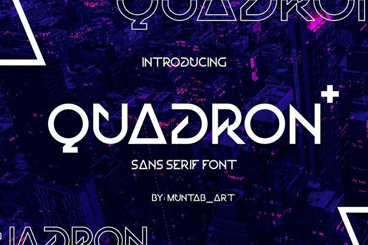 Quadron   Future Font example image 1