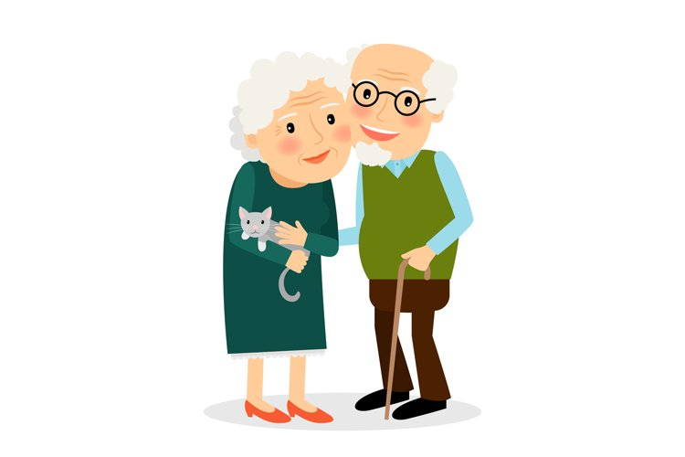 Old couple. Grandmother and grandfather. example image 1