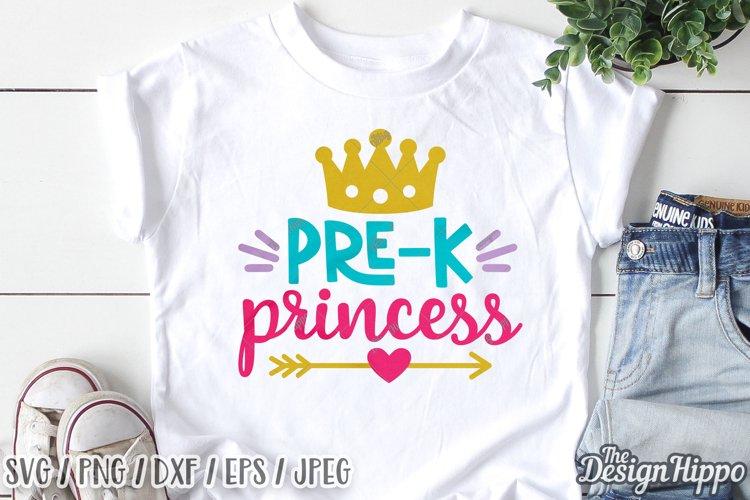 Pre-K Princess SVG, Back To School SVG DXF EPS PNG Cut Files