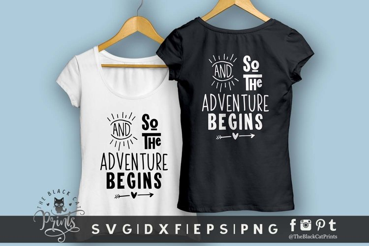 And So The Adventure Begins SVG | Adventure SVG | Newborn
