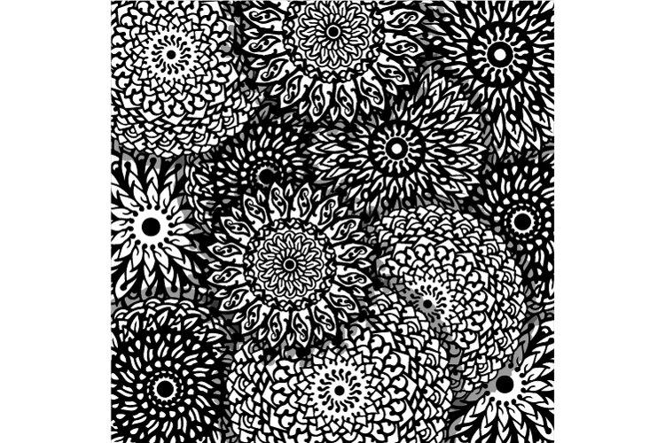 handmade mandala doodle for background wall decoration example image 1