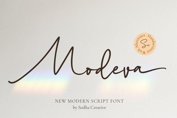 MODEVA - Wedding Font