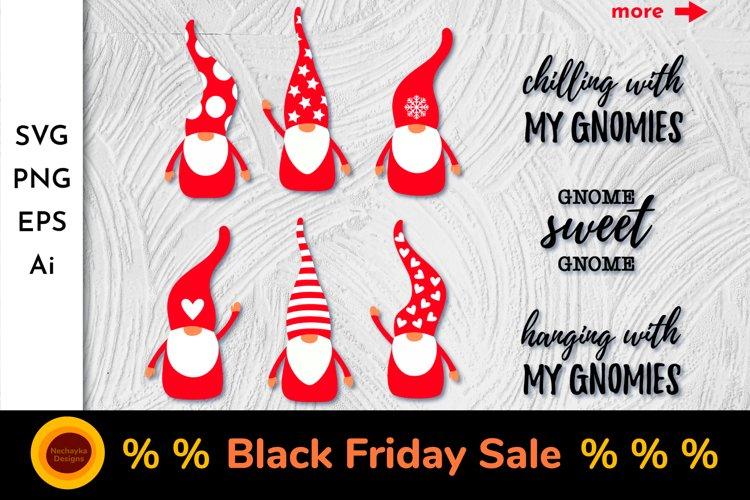 Valentine's Gnome. SVG. Gnome bundle. Gnome quotes SVG example image 1