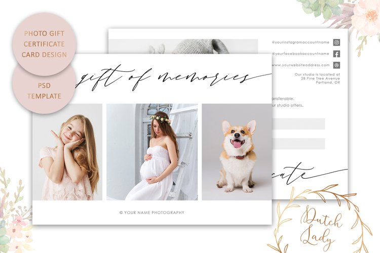Photo Gift Card Template for Adobe Photoshop - #56