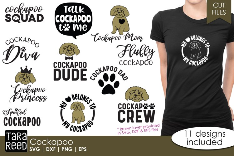Cavapoo - Dog SVG and Cut Files for Crafters