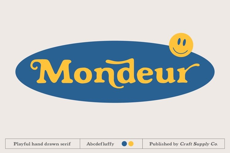 Mondeur - Playful Hand Drawn Serif example image 1