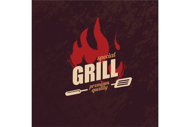 Grill and BBQ stylized logo template example image 1