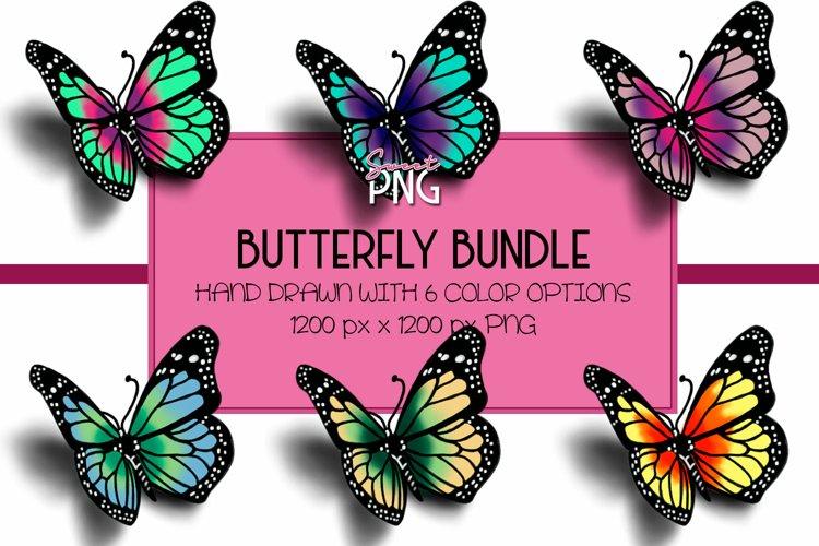 Colorful Butterfly Sublimation PNG Design Bundle