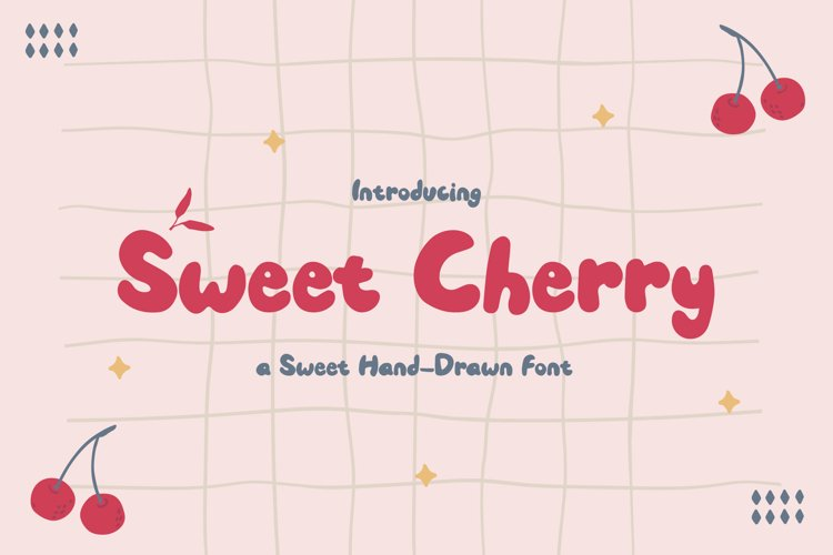 Sweet Cherry - a Sweet Hand-Drawn Font example image 1