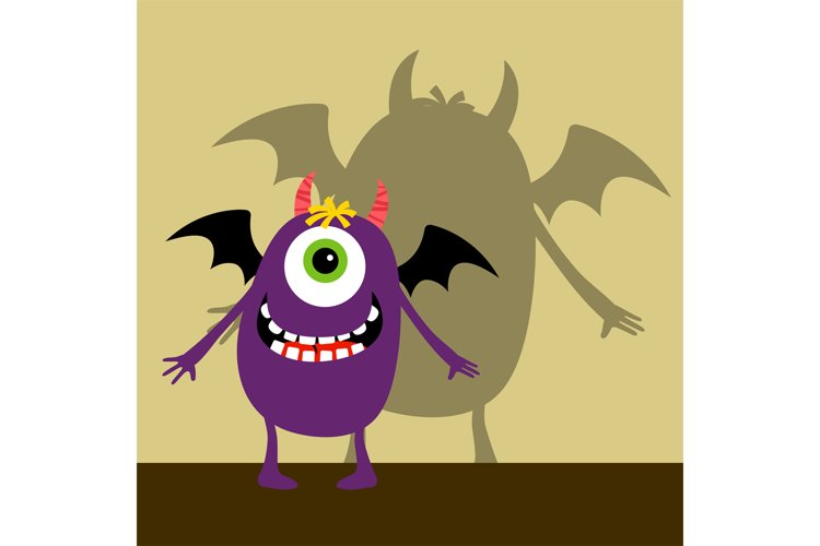 Cyclops violet happy monster example image 1