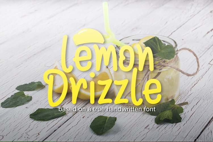 Web Font Lemon Drizzle example image 1