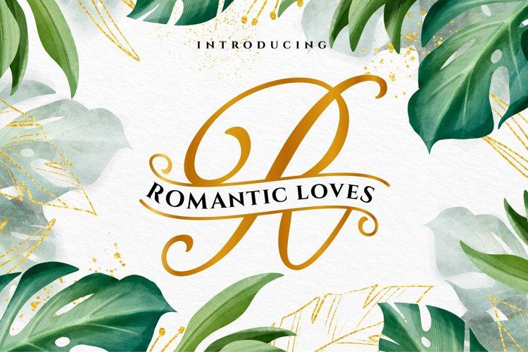 ROMANTIC LOVES MONOGRAM example image 1