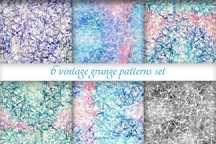 Grunge patterns set example image 1