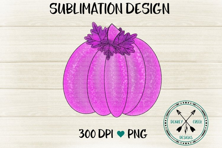 Hand Drawn Pink and Purple Watercolor pumpkin PNG example image 1