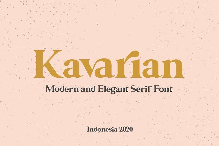Kavarian Modern Elegant Serif Handmade Typeface example image 1