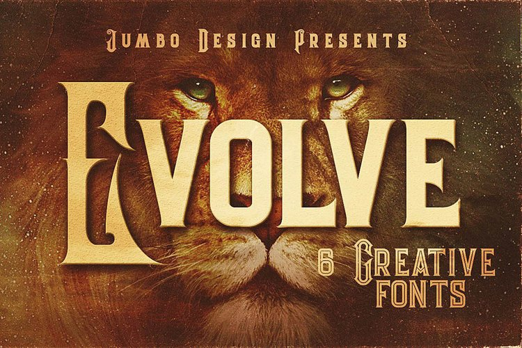 Evolve - Vintage Style Font example image 1