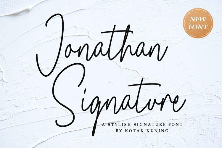 Jonathan Signature Font example image 1