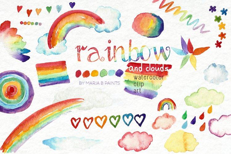 Rainbow Watercolor Clip Art