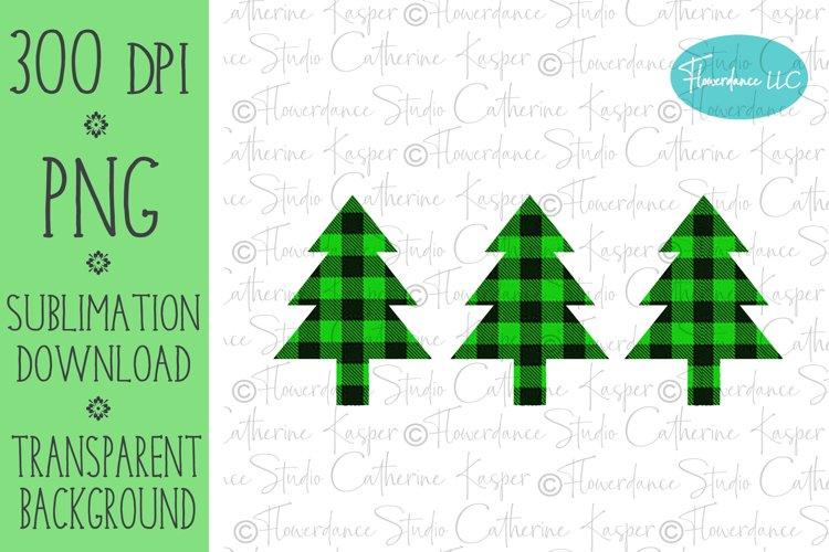 Buffalo Plaid Christmas Tree PNG, Sublimation Design example image 1