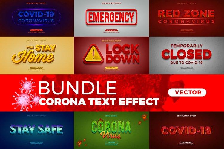 Bundle Corona editable font effect text vector example image 1