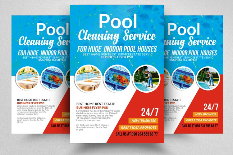 Pool Cleaning Service Flyer Template example image 1