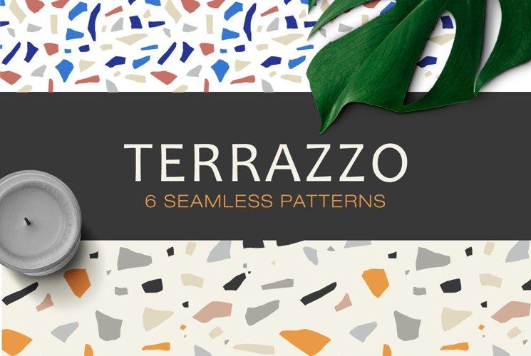 Terrazzo Seamless Patterns example image 1