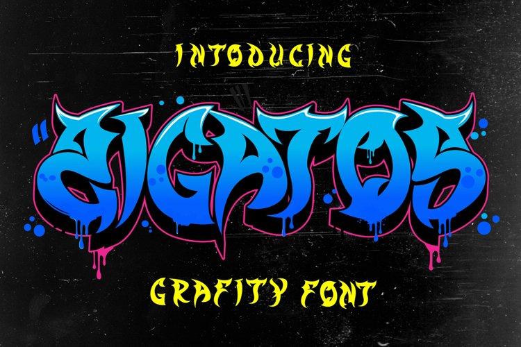 Zigatos - Grafity Font example image 1