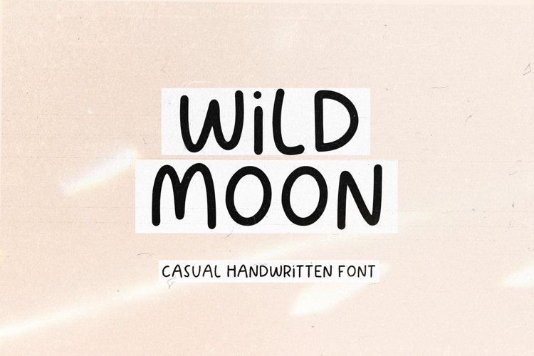 Wild Moon - Handwritten Font with Extras! example image 1