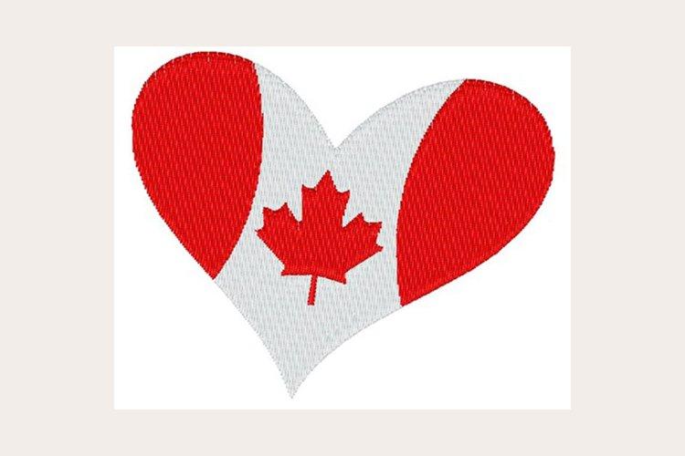 Canada Flag Heart - Machine Embroidery Design