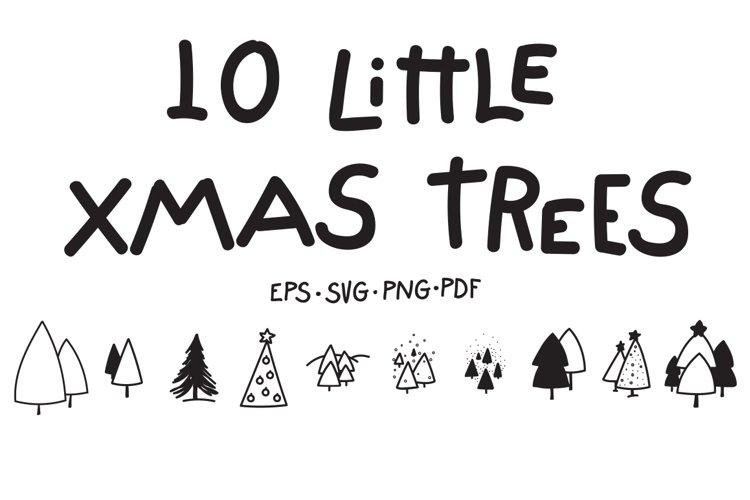 10 Little Xmas Trees example image 1