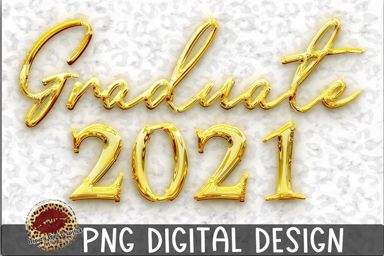 Sublimation Gold Graduate 2021 example image 1