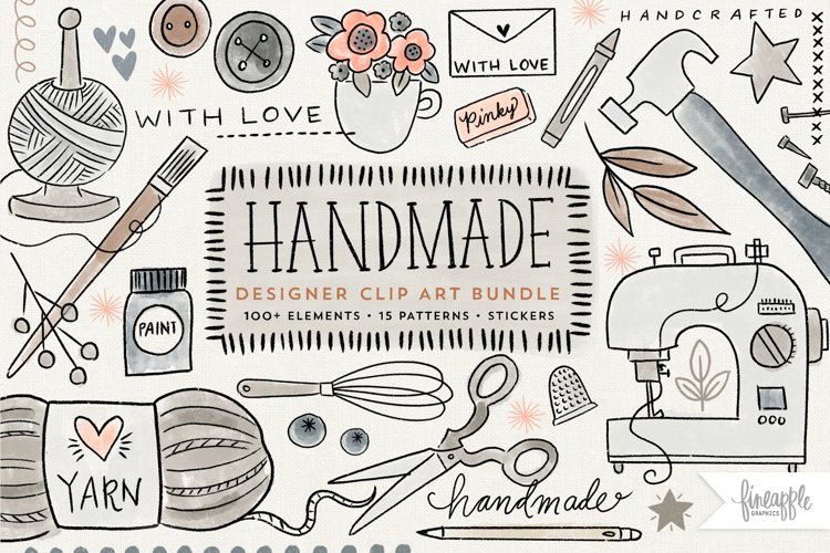 HANDMADE/CRAFTERS CLIPART BUNDLE, DH
