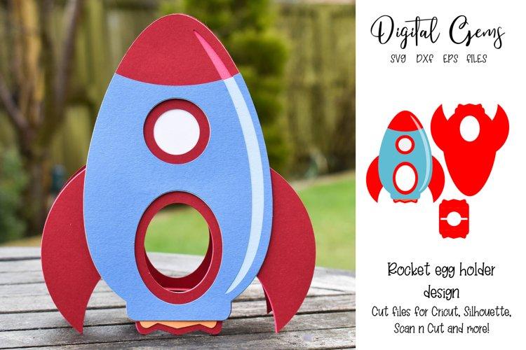 Rocket egg holder design, Easter SVG / DXF / EPS files example image 1