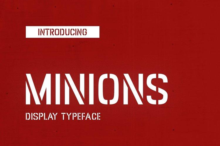 Web Font Minions example image 1
