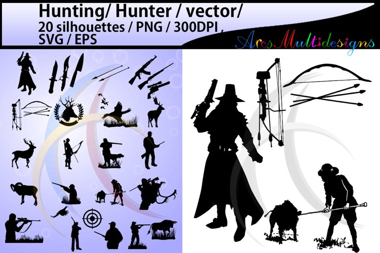 Hunting svg / hunting silhouette / High Quality / hunting clipart / hunting vector file / hunting 300 dpi file / hunt / SVG / EPS / PNG