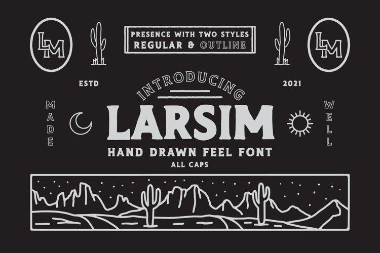 LARSIM Display Font