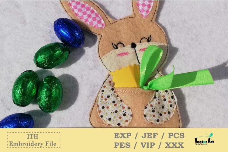 ITH - Money Bunny Gift holder - Embroidery File example