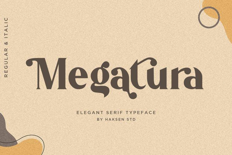 Megatura // Elegant Serif Typeface example image 1
