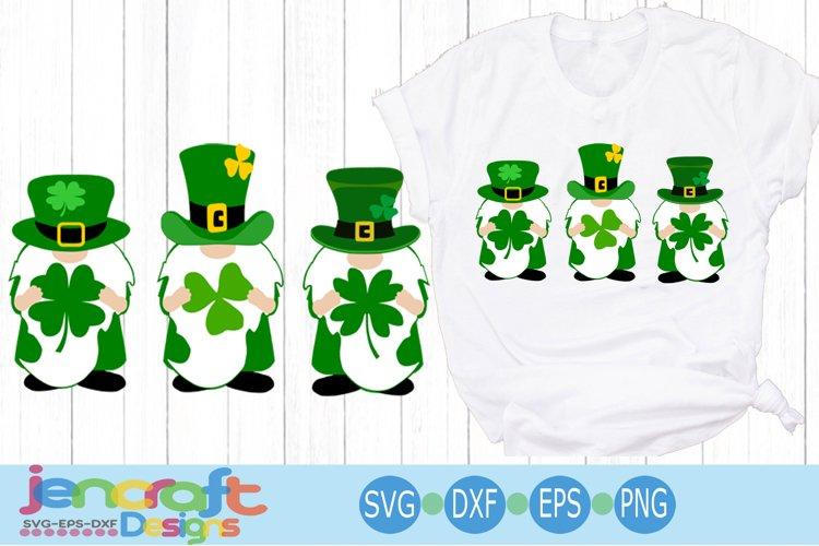 St Patricks day Gnomes svg 4 leaf clover Lucky Charm Irish