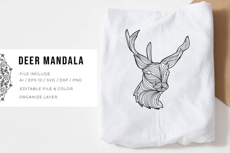 Deer Mandala   SVG example image 1