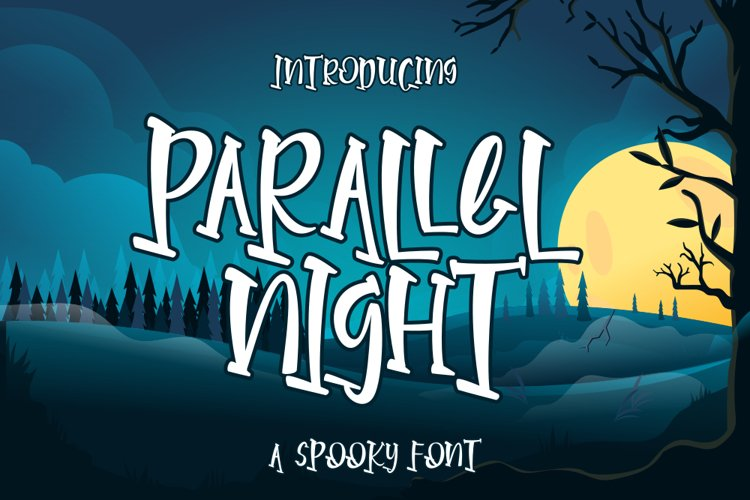 Parallel Night - Spooky Font example image 1