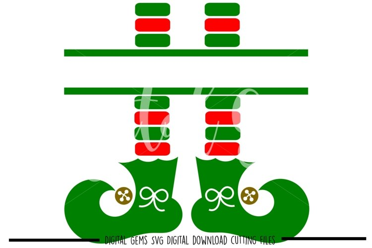 Elf legs SVG / PNG / EPS / DXF files example image 1