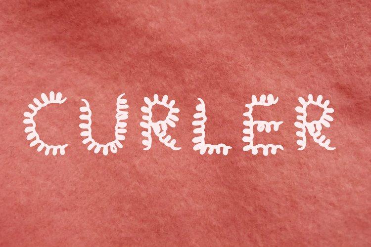Curler handwritten font example image 1