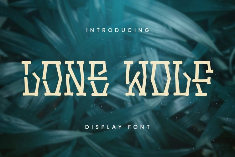 Web Font LONE WOLF Font example image 1