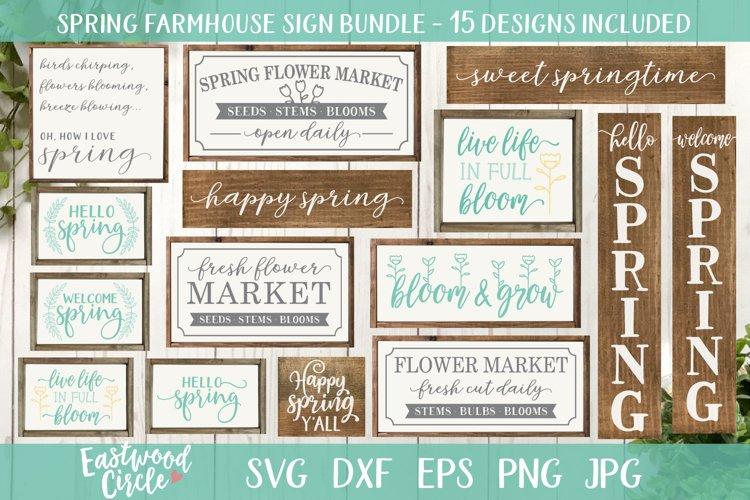 Spring SVG Bundle - Cut Files for Signs