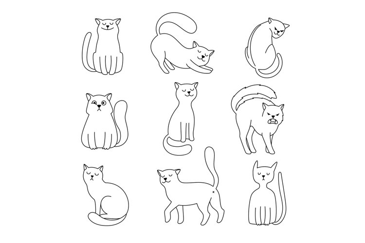 Cat character sketch example image 1